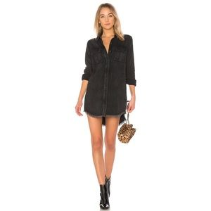 Hudson Bijou Button Front Shirt Dress in Smoke